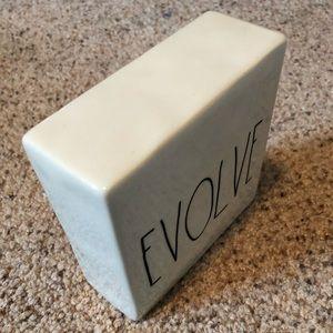 💙2/$15💙 Rae Dunn Evolve/Think Block